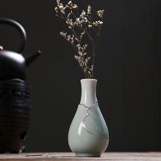 East west tea pot of flower gardening mesa device floret bottle ikebana art ceramics kiln celadon hand-painted flowers