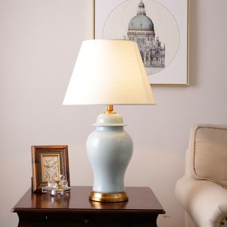 American desk lamp European sitting room warm and romantic study of bedroom the head of a bed of jingdezhen creative decorative ceramic lamp