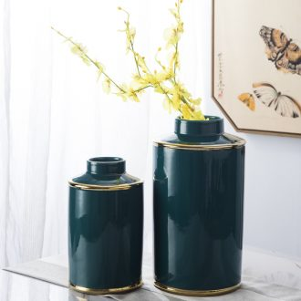 Jingdezhen ceramic vase furnishing articles sitting room european-style contracted Nordic style dry flower arranging flowers household soft adornment