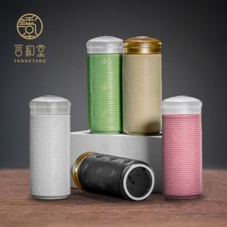 And hall net porcelain ceramic hot with cup double insulation vacuum prevention portable personality cups with the cup