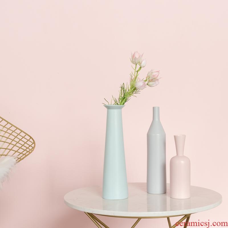 YANI yan yi Nordic ceramic vases, tea table, table ark place art morandi vases, flower art
