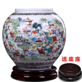 Jingdezhen ceramics fashion vase furnishing articles sitting room TV ark home decorative arts and crafts porcelain restoring ancient ways