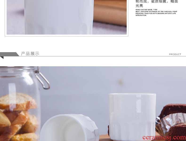 Jingdezhen ceramic tableware white glass hotel restaurant table tea cups can be printed LOGO