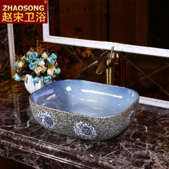 Jingdezhen Mediterranean oval restoring ancient ways art stage basin of hand washing basin bathroom ceramic basin large hotel