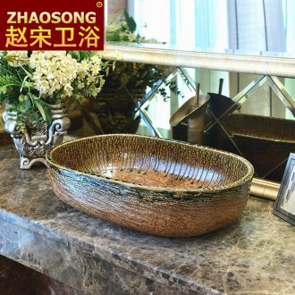 Zhao song dynasty jingdezhen ceramic art basin large elliptic toilet stage basin creative household the sink basin
