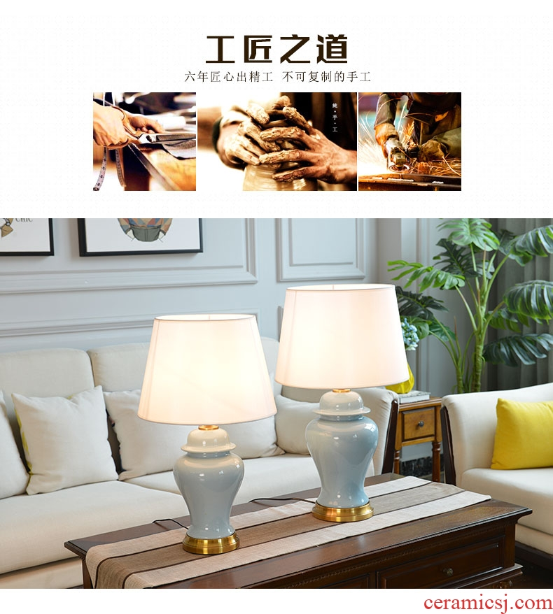 American country contemporary and contracted Europe type of bedroom the head of a bed living room decoration luxury full copper ceramic household warmth