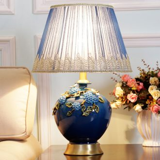 American simple ceramic desk lamp full copper sitting room study continental warm desk lamp of bedroom the head of a bed decorated dimmer remote