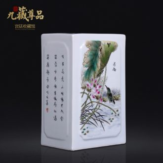 Jingdezhen antique hand-painted ceramics powder enamel inlay device plugged into the vase Chinese sitting room porch home furnishing articles
