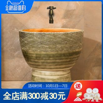 Balcony mop pool archaize ceramic mop pool mop mop sink basin floor mop pool bathroom art