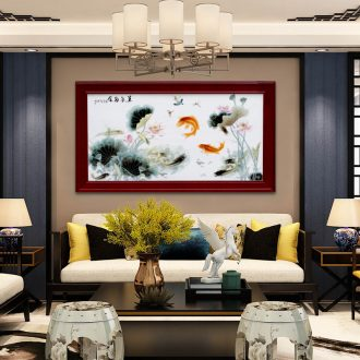 Adornment of I sitting room sofa setting wall murals have box corridor hangs a picture of jingdezhen hand - made famille rose porcelain plate painting