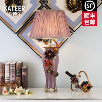 Cartel key-2 luxury colored enamel porcelain lamp sitting room classical atmosphere of bedroom the head of a bed the American - style villa lighting