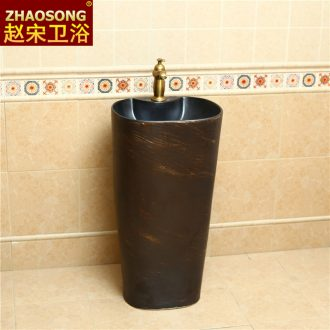 Ceramic column basin one - piece the basin that wash a face is suing toilet lavabo courtyard garden floor ChanChi restoring ancient ways