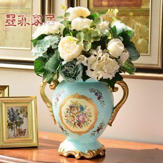Murphy European farm big vase American country creative ceramic flower arrangement sitting room adornment is placed simulation flower art
