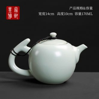 Royal refined your up ceramic teapot single pot on kung fu tea set household ice crack filtering contracted tea