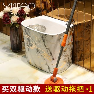 European ceramic mop pool square large mop pool small wash mop pool mop mop mop basin slots