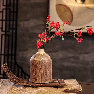 Ceramic POTS dry flower vase planting soil restoring ancient ways is sitting room decorate ceramic flower implement zen coarse TaoYingChun floral decorations