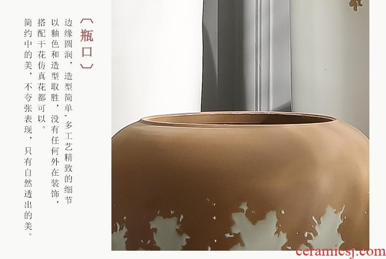 Jingdezhen ceramics furnishing articles big vase household flower arrangement sitting room adornment bottles hand blue and white porcelain vase furnishing articles - 575695039910
