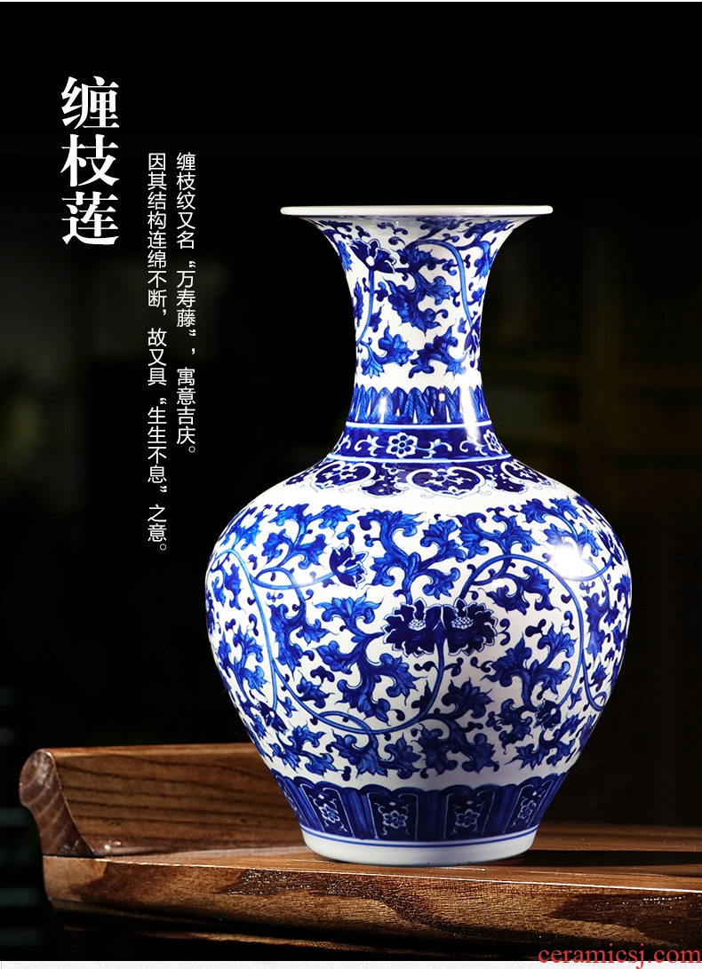 Better sealed up with jingdezhen ceramic antique nine big vase pastel peach tree furnishing articles rich ancient frame decoration - 558600363876
