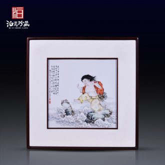 Jingdezhen ceramic hand-painted bang drama spittor study background wall paint decoration painting the sitting room dining-room wall porcelain plate painting