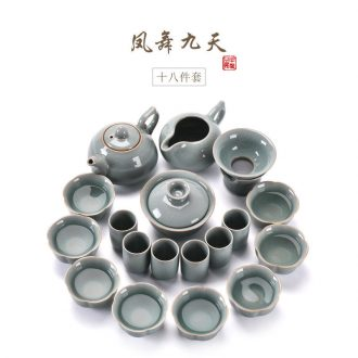 JiaXin elder brother kiln open piece of a complete set of kung fu tea set suit ceramic tureen contracted office cup suit household the teapot