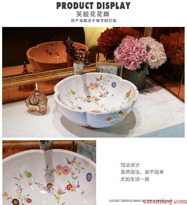 Post, qi on bonsai, ceramic lavabo that defend bath lavatory basin art basin petals