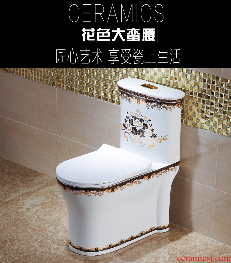 Post, qi color toilet European implement pumping sit lavatory household ceramics odor-proof siphon toilet implement
