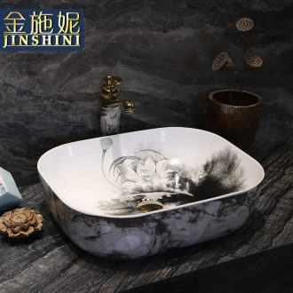 The Table plate ceramic traditional Chinese style household lavabo circular fashion art toilet wash dish washing basin