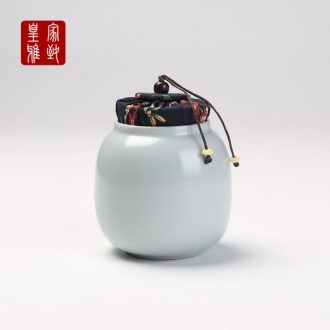Royal refined your kiln tea pot and tea to save tea ceramic seal box large storage tank is small POTS