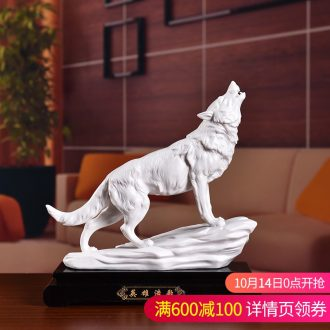 The east mud modern Chinese ceramic Wolf high - grade office furnishing articles rich ancient frame decoration decoration business gifts