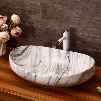 Ceramic art basin home toilet lavabo oval basin basin of Europe type restoring ancient ways the marble table