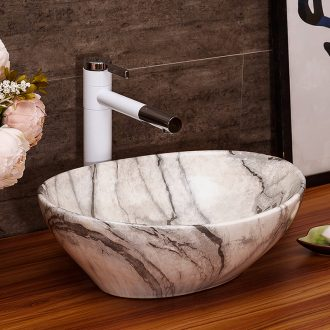 Household ceramic lavabo toilet lavatory basin art on the stage with a water bath wash gargle small basin