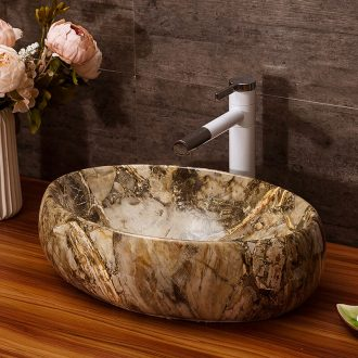 Ceramic art stage basin oval for wash gargle is suing toilet lavabo, household lavatory basin on the balcony