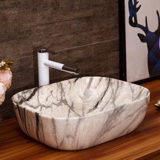 On the ceramic basin toilet lavabo Europe type restoring ancient ways suit marble art basin faucet lavatory