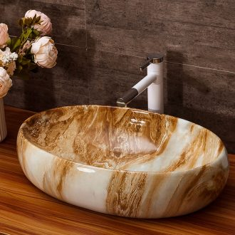 On the ceramic basin home toilet lavabo Europe type restoring ancient ways the oval lavatory basin marble art