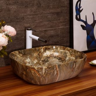 Ceramic art stage basin hotel toilet lavabo, basin faucet suit European marble sinks