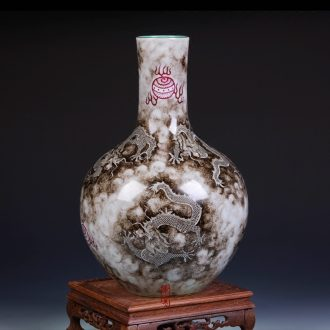Imitation qing qianlong ink cloud dragon cast bead grain tree of jingdezhen ceramics handicraft home furnishing articles in the living room