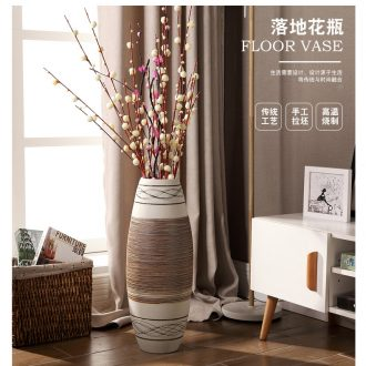 European vase furnishing articles ceramic handicraft sitting room TV ark, home decoration flower arranging flowers, dried flowers, large - 566502503871