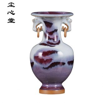 Dust heart of jingdezhen ceramic vase furnishing articles flower arranging creative archaize jun porcelain slice of the sitting room of Chinese style household porcelain