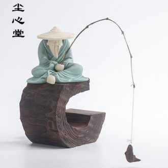 Dust heart of zen violet arenaceous character man trolls furnishing articles home decoration ceramics handicraft weathered