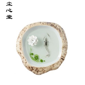 Dust heart hand draw 3 d sweet new desktop furnishing articles Chinese jingdezhen resin dry landscape painting ceramic incense