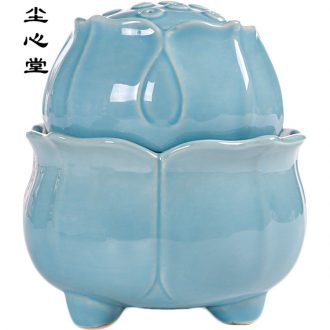 Dust heart desktop ceramic water is placed in the little fountains fortune wheel humidifier and zen office feng shui living room
