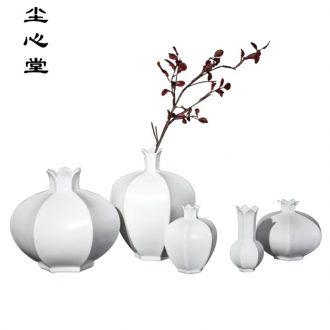 Dust heart pomegranate flower creative ceramic vase furnishing articles flower arranging soft outfit sitting room adornment flowers