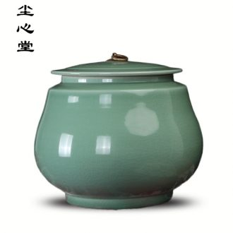 Dust heart of postmodern new Chinese style furnishing articles furnishing articles show kitchen ceramic storage jar with cover large caddy fixings