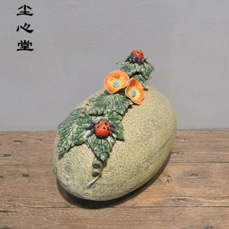 Dust heart sweet cantaloupes fruit ceramic furnishing articles marriage wedding sitting room home decorative arts and crafts