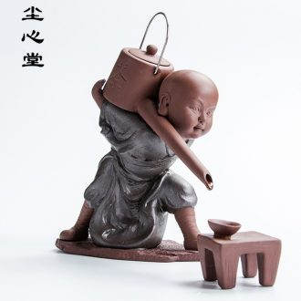 Dust heart small zen monk back censer creative violet arenaceous aromatherapy furnace sandalwood tea art household act the role ofing is tasted ceramics