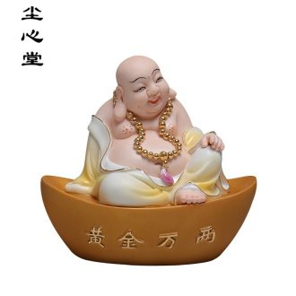 Dust heart smiling Buddha maitreya hall wing a bigger place to live in the sitting room town curtilage porcelain decorative ceramic figure of Buddha