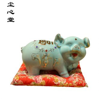 Dust heart ceramic the pig can save money piggy bank adult piggy bank super-sized creative children gifts
