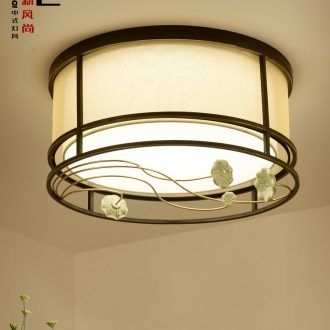Jiao seven new Chinese style dome light creative contracted and contemporary personality ceramic bedroom lamp lotus Chinese wind lighting lamps and lanterns
