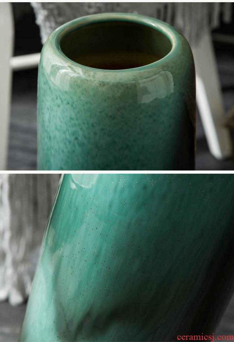 Jingdezhen ceramic vase qingming scroll large vases, antique vase gift furnishing articles furnishing articles sitting room the contributor of large - 578772814661