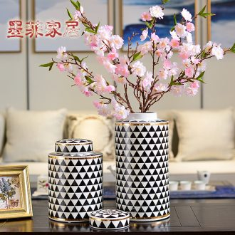 Murphy 's new Chinese style classical porcelain vase home sitting room porch of dry flower, flower art receive can decorate furnishing articles